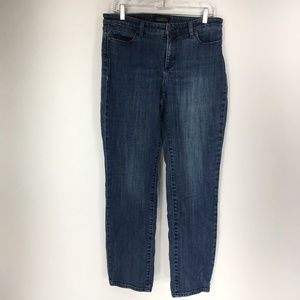 Talbots 10 Straight Curvy Jeans Flawless Five Pock